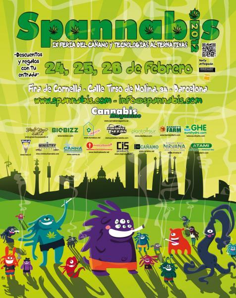 Cartel de Spannabis 2012