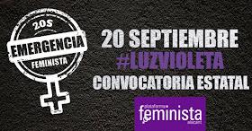 Emergencia feminista: el 20S #LUZVIOLETA