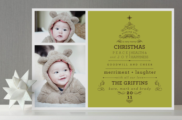EcoBabyz Minted Holiday Cards Birth Announcements 100 Credit – Holiday Birth Announcements