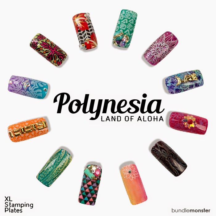 Lacquer Lockdown - nail art stamping blog, nail stamping blog, bundle monster, polynesia collection, nail art, nail art stamping, stamping, stamping plates 2015, nail art stamping plates 2015, cute nail art idea, tribal, tribal nail art, nails, diy nail art, cute nail art ideas