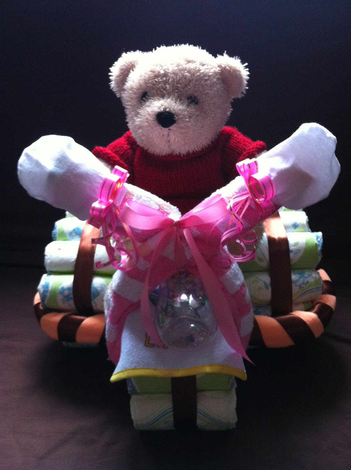 Baby Gift Creations : Nurie s creations diaper cakes baby gifts tricycle