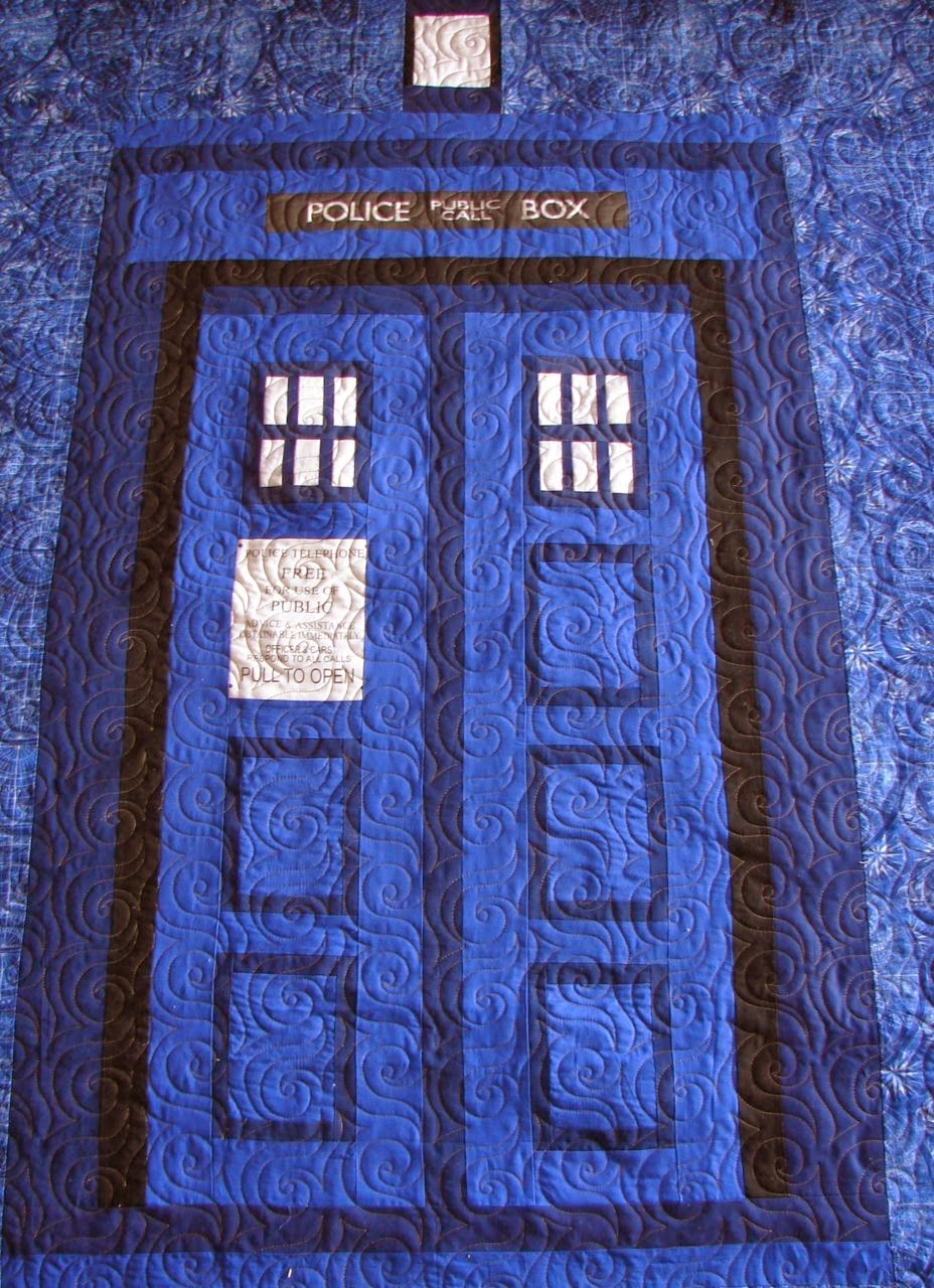 Amys Passions Kamryns Tardis Dr Who Quilt Quilting