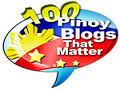 We're included in 100 Pinoy Blogs