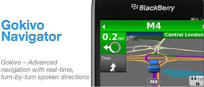 Aplikasi BlackBerry Terbaru Gokivo Navigator voice guided navigation