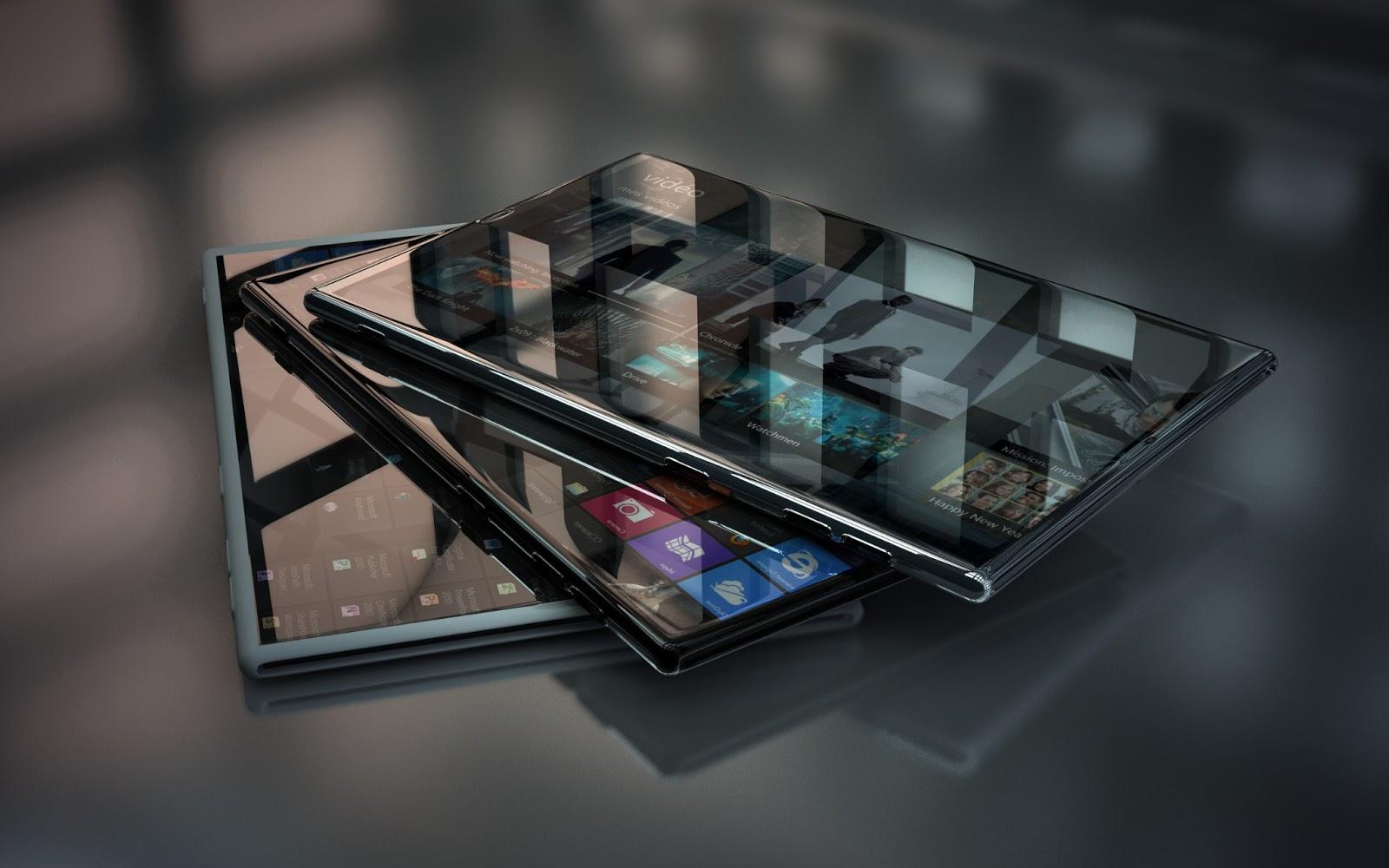 Glass 3D Hi-Tech Windows 8 Phone (2560x1600)
