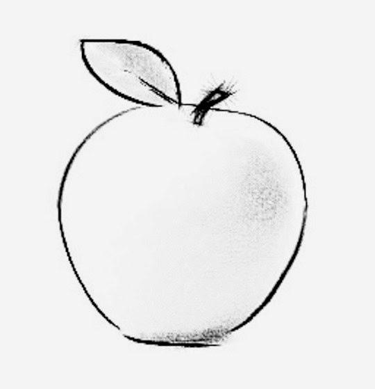 mela disegno stampa