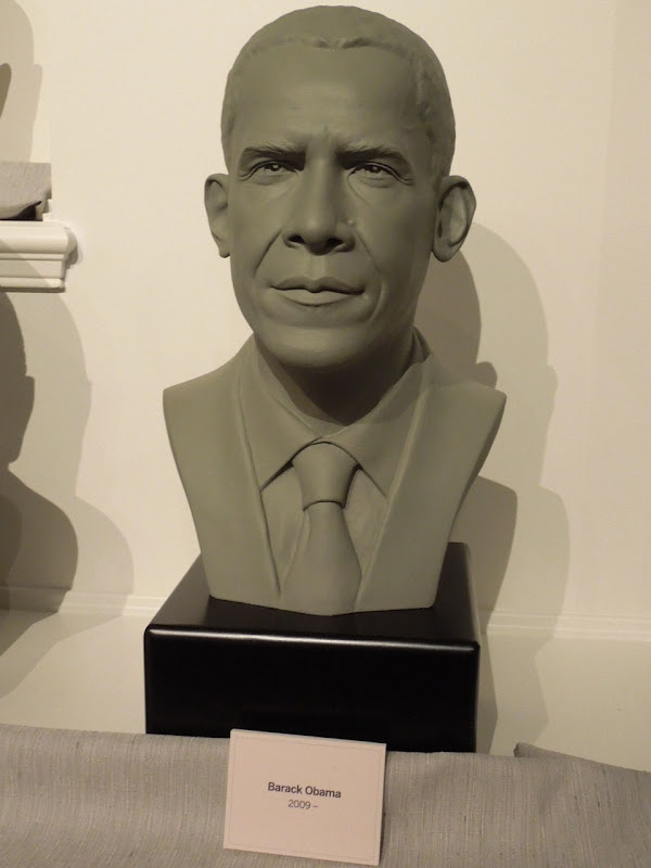 Hall of Presidents Obama bust