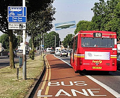 UFO in bus lane