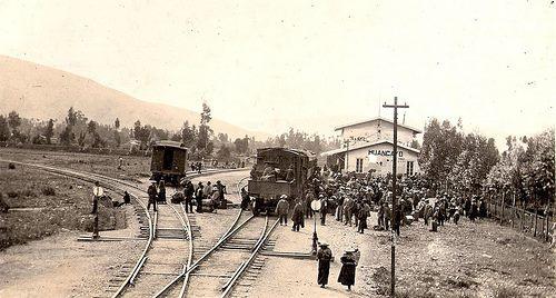 Estación del tren, Frente a Real Plaza en la actualidad