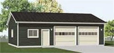 Heavy duty two car garage with shop