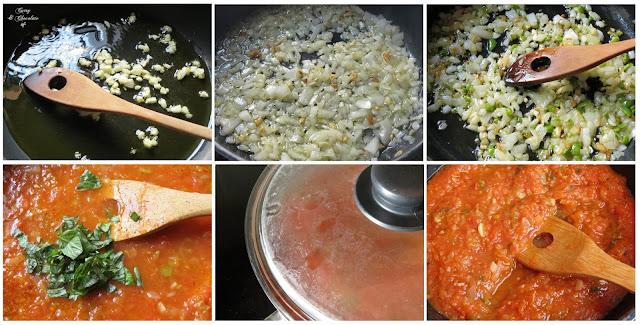 Preparando la salsa de tomate