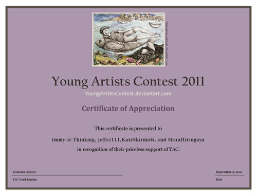 Sample certificate of appreciation for the judges image collections sample certificate of appreciation for judges in a competition yac 2011 results announcement is tomorrow my yadclub Images