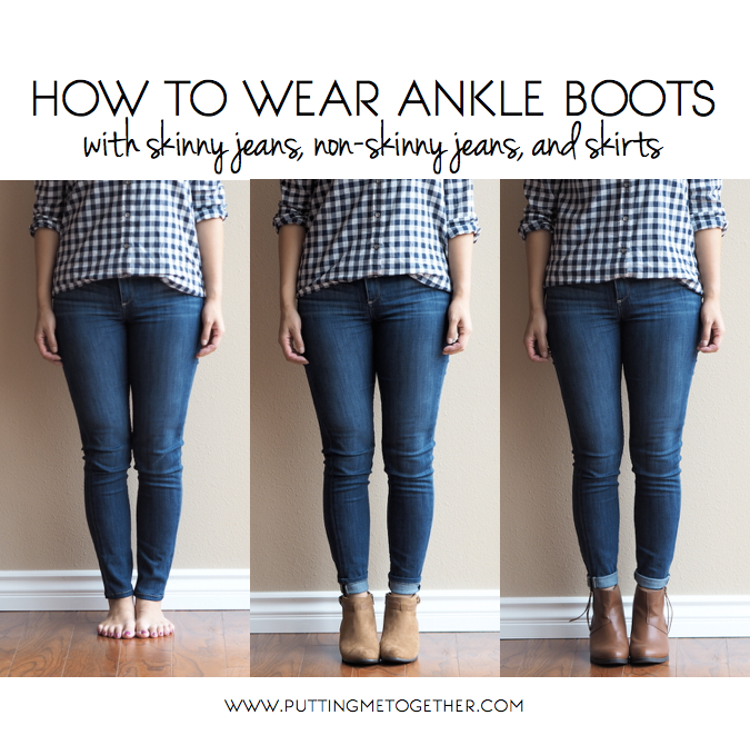 how to wear ankle boots with and skirts putting me
