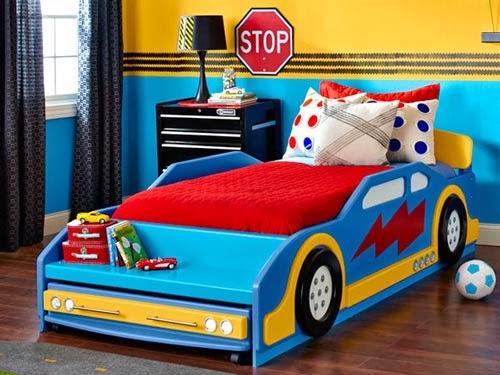 Fotos de dormitorios con camas coche colores en casa - Camas de coches para ninos ...
