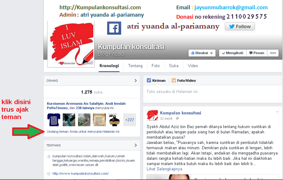 invite friends like funbox kumpulankonsultasi via facebook english version