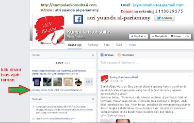 ajak teman like funbox kumpulankonsultasi via facebook