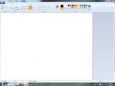 Cara membuat atau mengambil gambar tangkapan layar (screenshot) pada layar komputer atau laptop secara mudah dan cepat dengan bantuan Paint.
