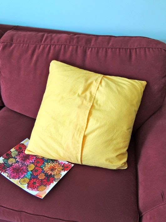 Doodlicious Flowers made into a pillow, Karen Blados