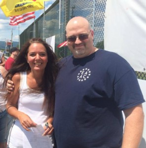 Republican Chairwoman (Lackawanna County) Mary Ann Benitez and Neo-Nazi Steve Smith at the same overpass in 2014