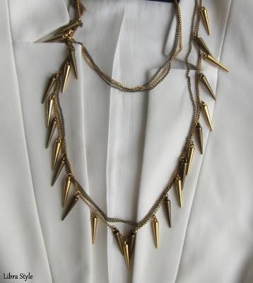 koton ole aksesuar çivili kolye , necklace