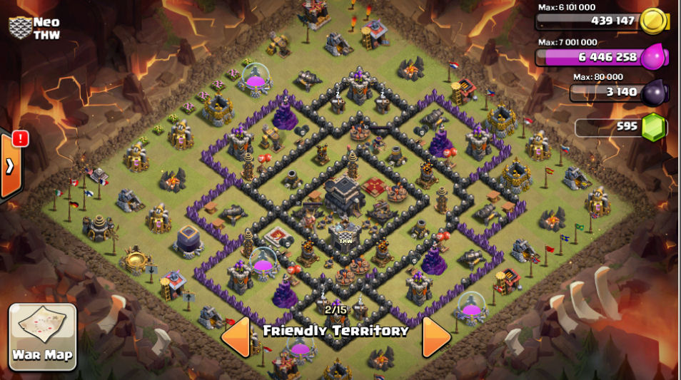 Thw clash of clan coc th7 war base recommendations th8 war base