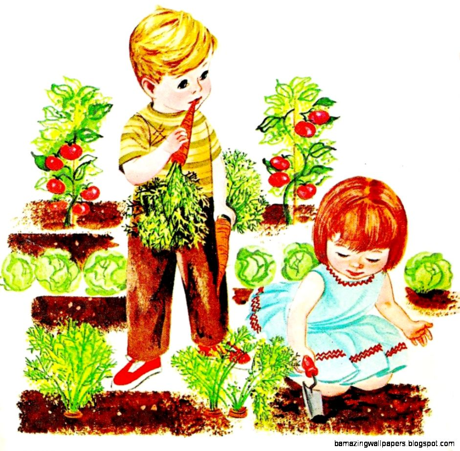 Kids vegetable garden clipart inspiration garden ideas   Clipartix