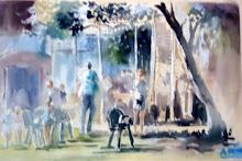 concours de peinture de rue à Andernos 33 le 16 et 17 juillet 2011
