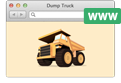 Dump Truck in a web browser