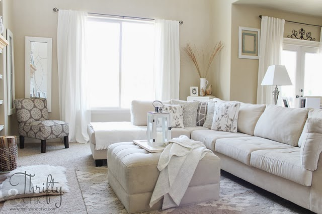 Delightful Neutral/White Living Room Design