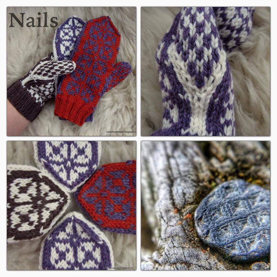Nails Mittens By Lunamon Design