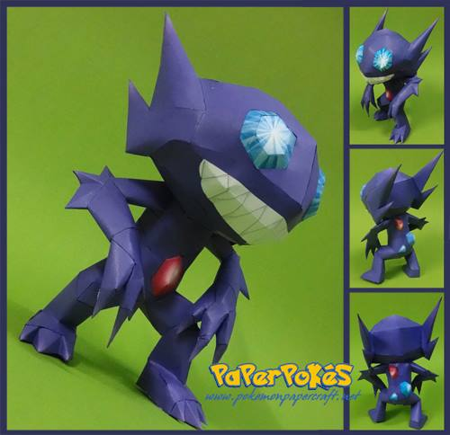 Pokemon Sableye Paper Model