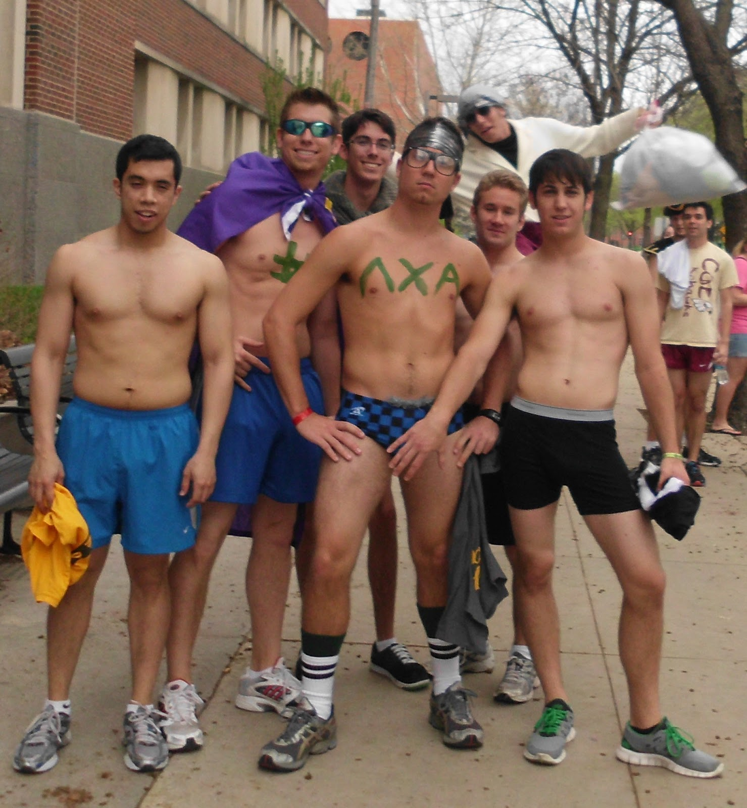 Naked college dudes running #11
