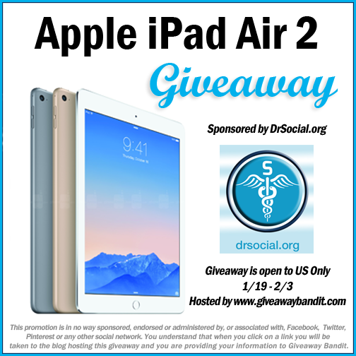 Enter the iPad Air 2 Giveaway. Ends 2/3