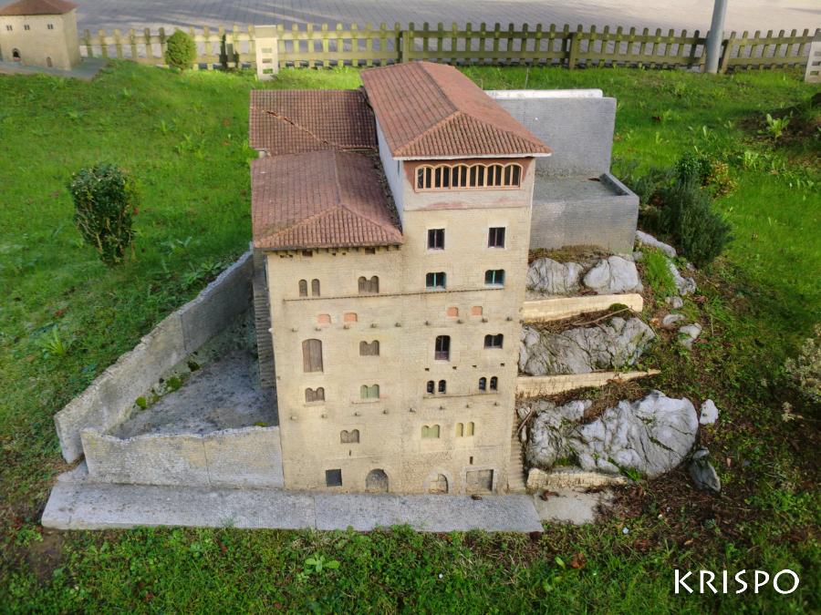 miniatura de torre berriatua de mutriku
