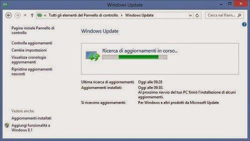 Windows Update - avere il Tablet PC sempre aggiornato è fondamentale