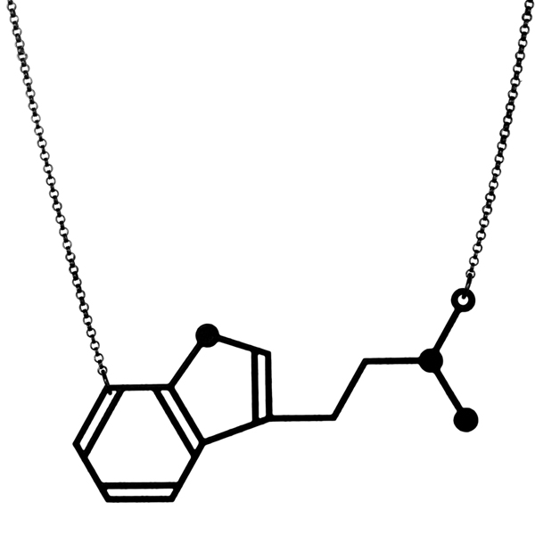 Aroha Silhouettes, Molecular Addictions, DMT Necklace, Dimethyltryptamine, Molecule, Chemistry, Jewellery