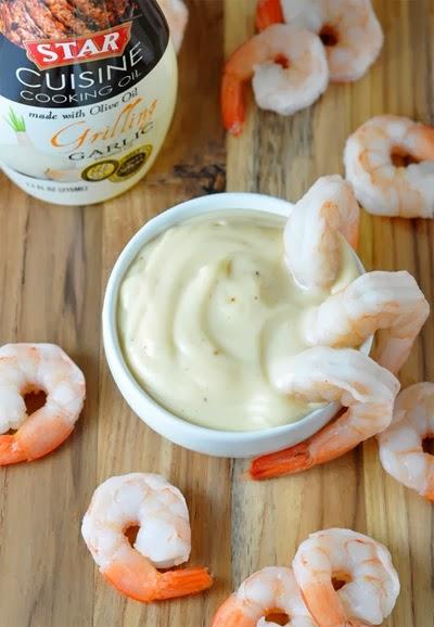 Shrimp Cocktail with Garlic Mustard Cream