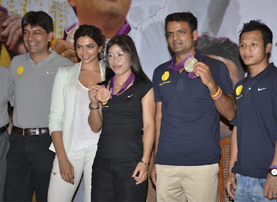 Deepika with olympic medal winners