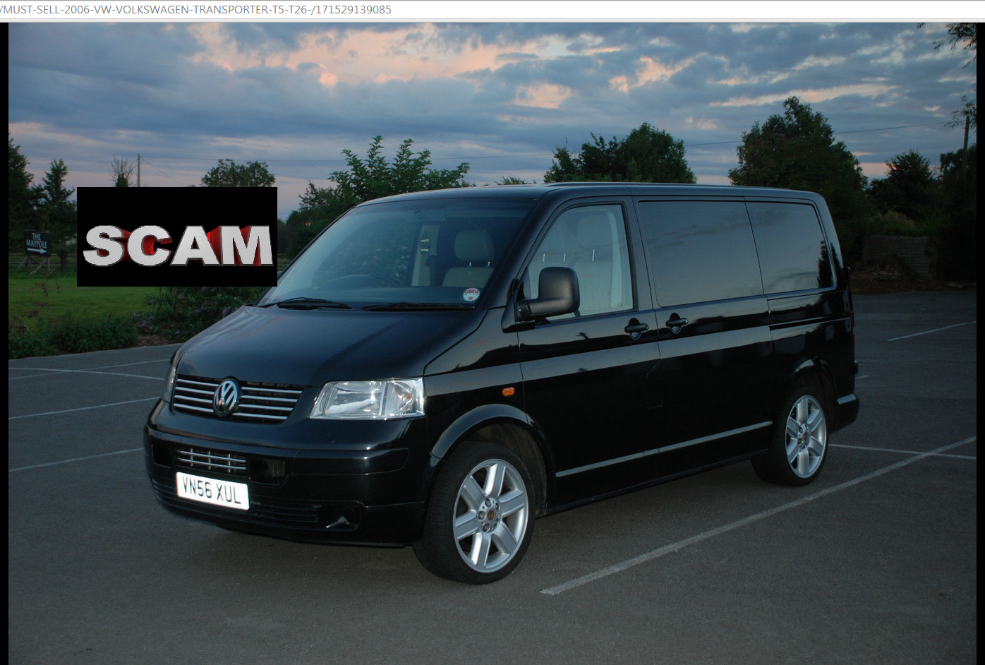 scam 2006 vw volkswagen transporter t5 t26 vn56xul ebay fraud vn56 xul 05 nov 1. Black Bedroom Furniture Sets. Home Design Ideas