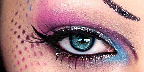 maquillaje ojos fiesta glitter