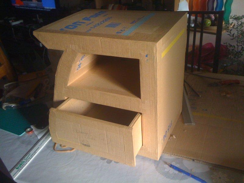 Meubles en carton bocaline for Finition meuble en carton