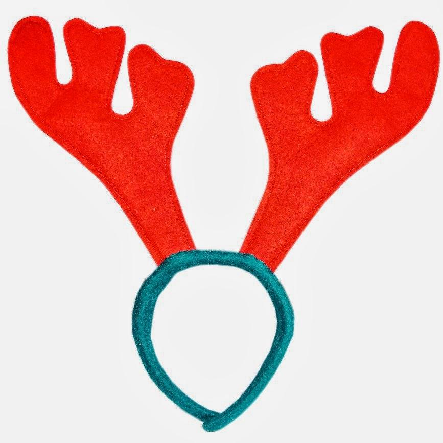 Reindeer antlers headband clipart