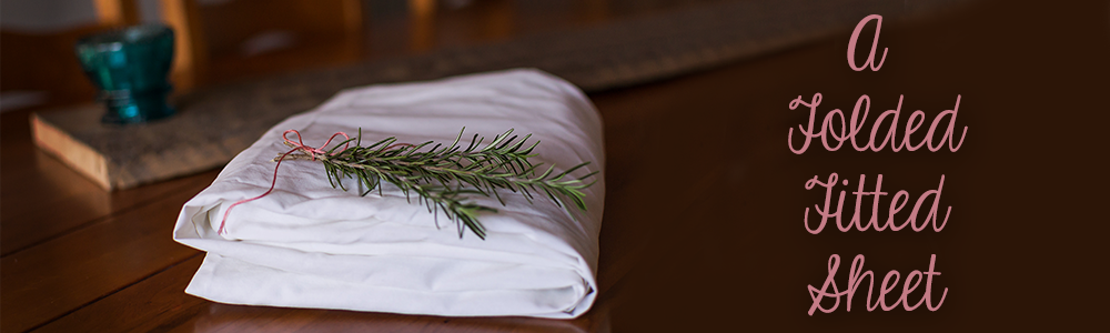 A Folded Fitted Sheet