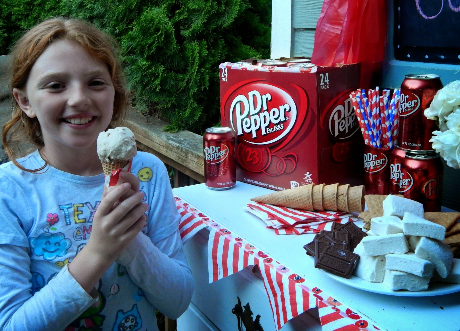 Dr. Pepper #BackyardBash + ice cream recipe #Shop #Cbias #CollectiveBias