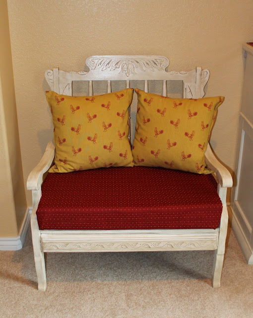 french country bench makeover