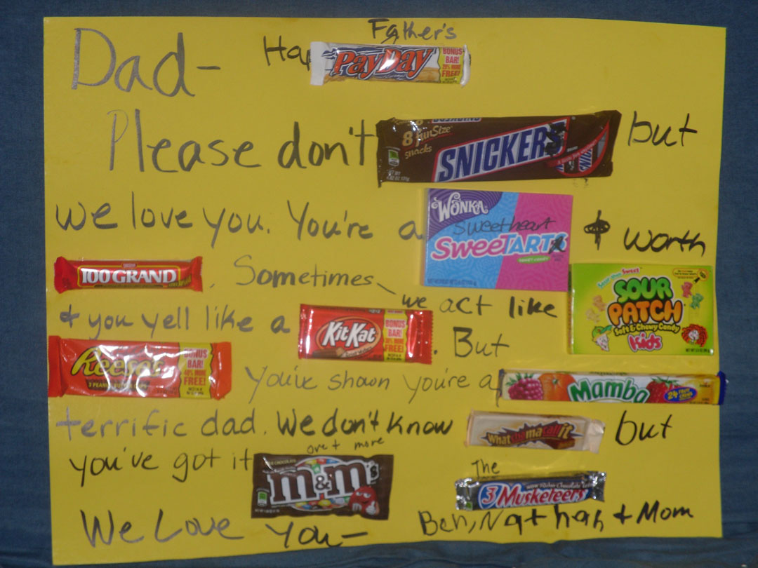 fathers day sayings with candy | just b.CAUSE