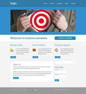 Doing business template for Drupal in Photoshop