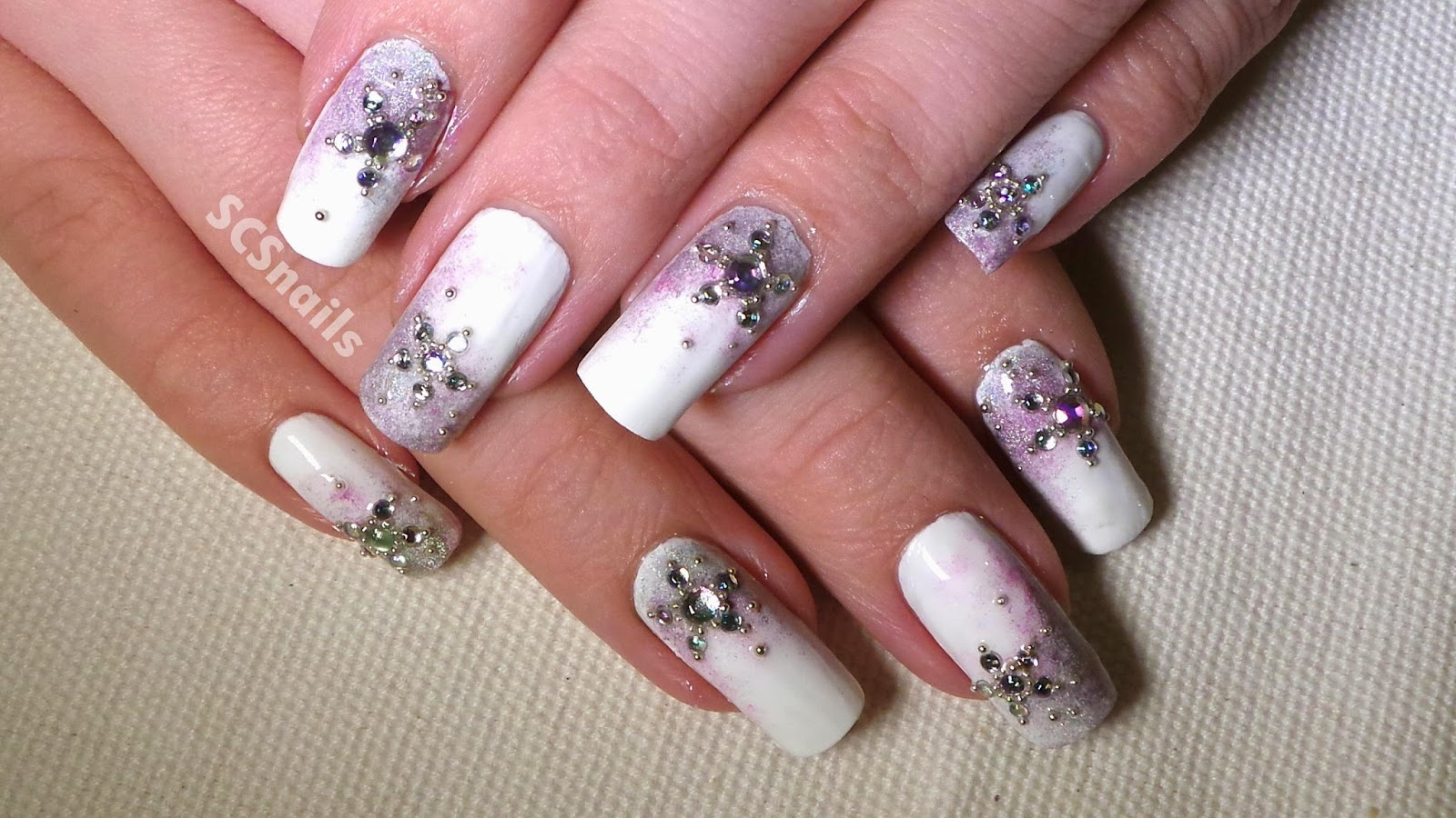 SCS nails: Mad Hatter, Totoro, Snowflakes & Poinsettias