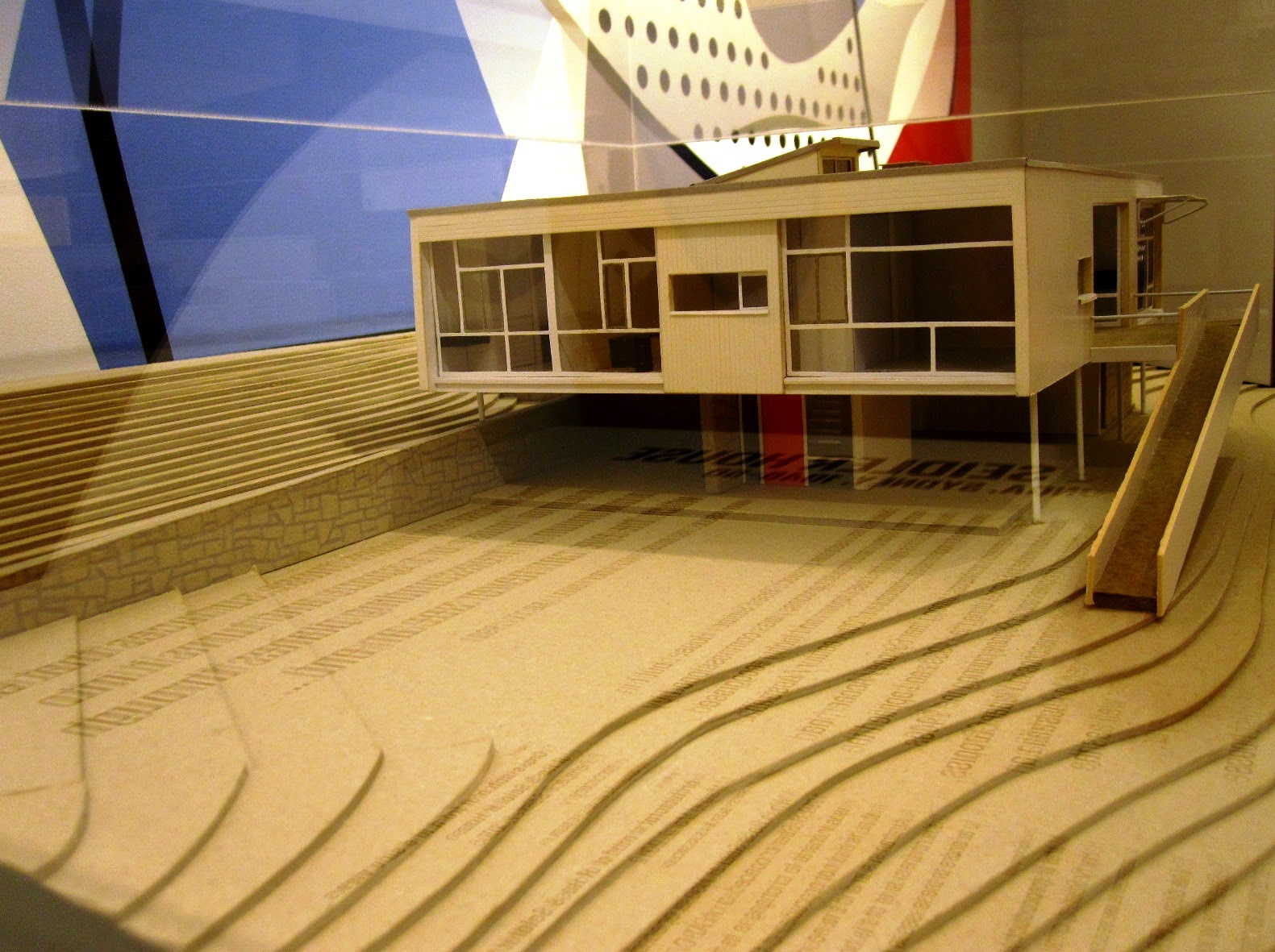 Front view of an architect's model of Rose Seidler House.
