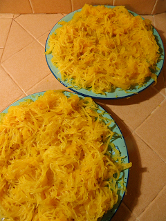Two Large Plates of Spaghetti Squash